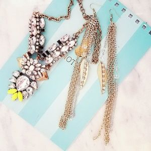 Jewelry - New Gold Silver Dangle Feather Earrings Native